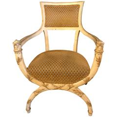 hollywood regency fauteuil attributed to maison jansen in original finish vintage office chairs for sale c