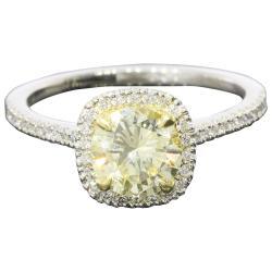 Small Of Yellow Diamond Engagement Ring