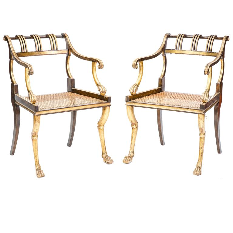 Pair Of Early 19th Century Regency Style Chairs For Sale Regency Style Furniture E23