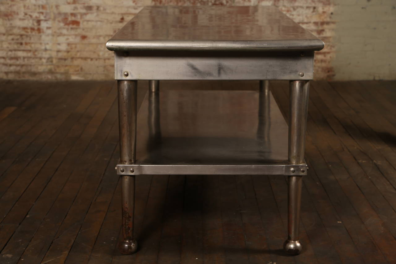 id f stainless steel kitchen table 3
