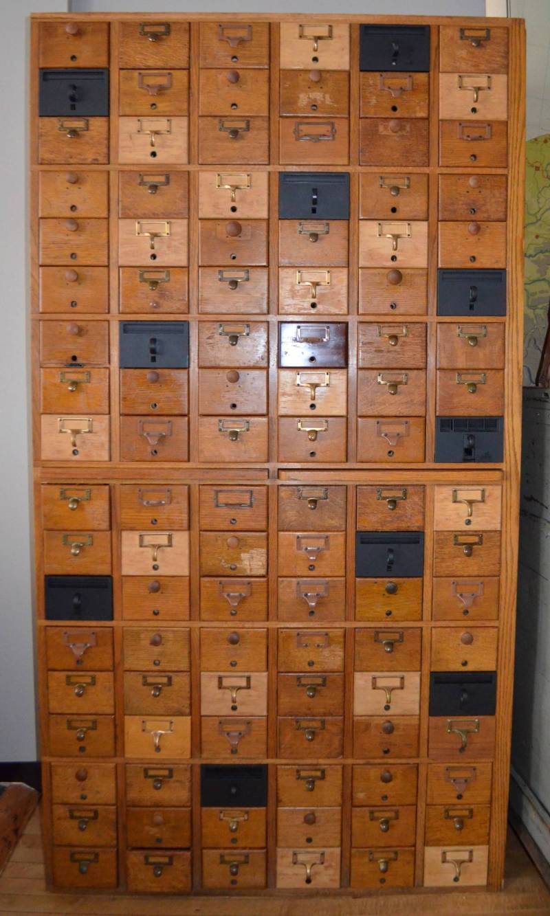 Large Of Card Catalog Cabinet