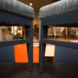 J a Casillas Lacquered Dining Chairs at 1stdibs