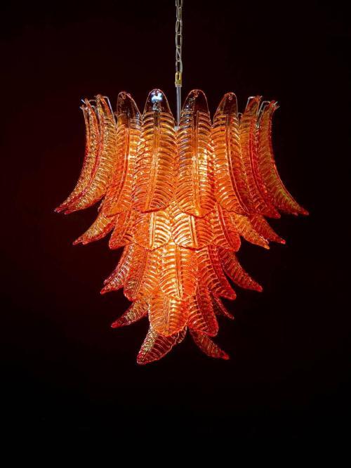 Medium Of Blown Glass Chandelier
