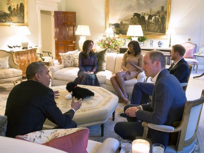 Barack Obama And Wife Michelle Meet With British Royals At Kensington Palace. (Photos)