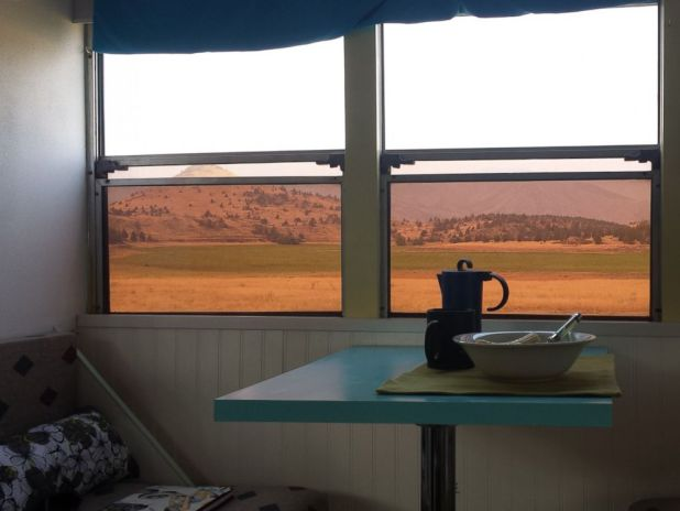 PHOTO: Patrick Schmidt, 29, took a blue school bus, which he transformed into a motor home, on a 10,000 mile road trip from August to October 2015.