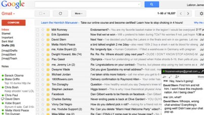 LeBron's Inbox