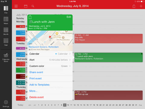 Week Calendar for iPad iPad