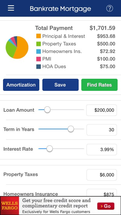 App Shopper: Mortgage Calculator & Mortgage Rates by Bankrate (Finance)