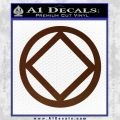 NA Narcotics Anonymous CST Decal Sticker BROWN Vinyl