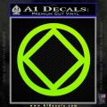 NA Narcotics Anonymous CST Decal Sticker Lime Green Vinyl