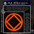 NA Narcotics Anonymous CST Decal Sticker Orange Emblem