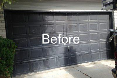 M Old Black Garage Door