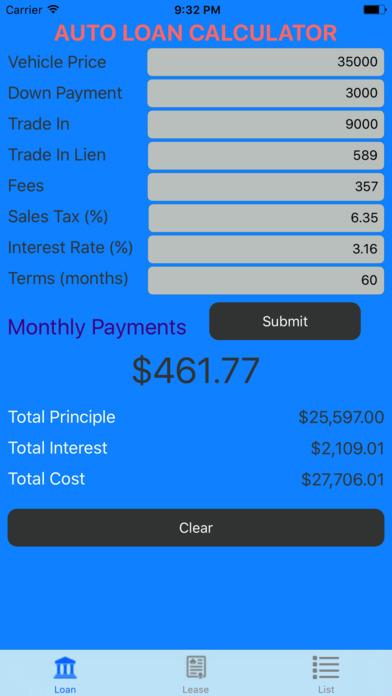 App Shopper: Car Loan Calculator – Auto Loan & Lease Calculator (Finance)