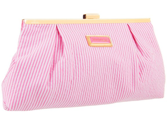 LILLY PULITZER OPENING NIGHT CLUTCH SEERSUCKER