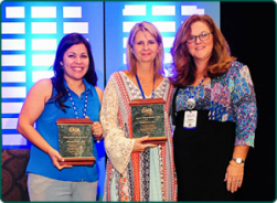 Kristin Davis, AuD, and Alexandra Tarvin, AuD, were honored with the Craig W. Johnson Audiology Advocate Award.