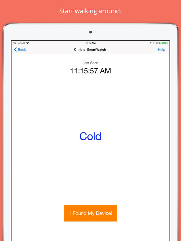 Device Finder - Find your Lost SmartWatch, Headphones, Fitness Tracker or other Bluetooth Low Energy Device in Minutes Screenshot