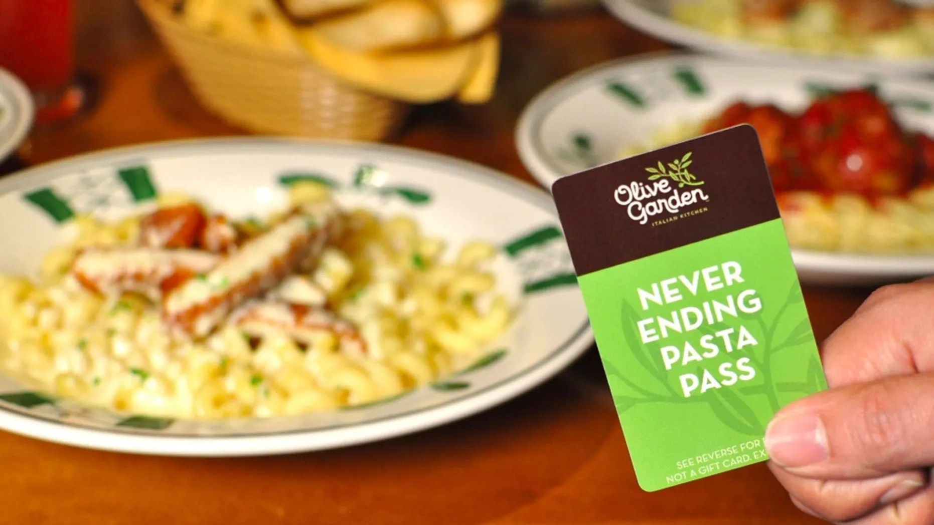 Eye A Olive Garden Almost Immediately S Passesthat Gave Olive Never Ending Pasta Pass S Out For Second Year One How Never Ending Pasta Pass Never Ending Pasta Bowl 2018 Dates nice food Never Ending Pasta