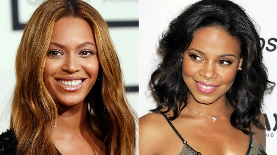 Beyonc     bite  Sanaa Lathan is reportedly the star who bit the singer     Sanaa Lathan is said to be the mystery star who accidentally bit Beyonce
