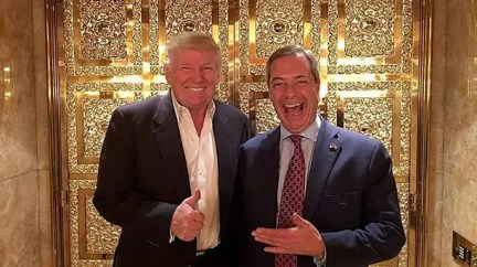farage trump Twitter