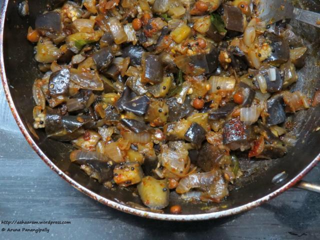 Vankaya Vepudu, Baingan Ka Bhaji or Aubergine Fry