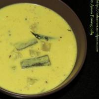 Majjiga Pulusu (Buttermilk Stew or Andhra Kadhi) - With Coconut