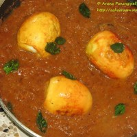 Kodi Guddu Pulusu - Andhra Style Egg Curry with Tamarind - For Iftar at Ramzan or Ramadan