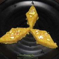 Sev Barfi or Singhar Ji  Burfi - A Sindhi Sweet - Diwali Special Recipe