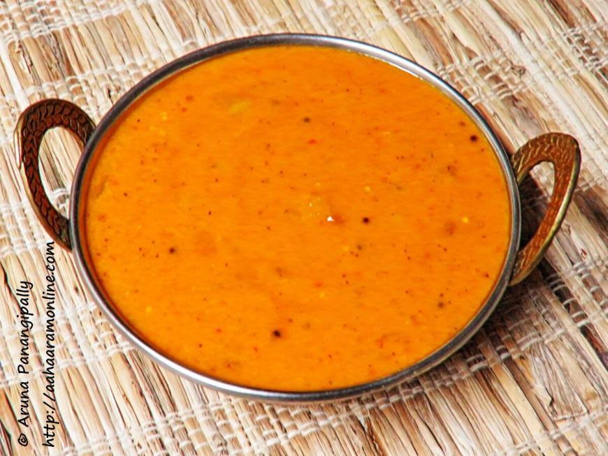 Amlechi Uddamethi - Goan Style Raw Mango Curry
