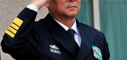 Adm. Wu Shengli, Commander-in-Chief of the People's Liberation Navy, renders honors during a welcoming ceremony for Adm. Gary Roughead, United States Chief of Naval Operations, while visiting PLA Navy headquarters in Beijing on April 18, 2009. Adm. Wu was in the United States on Sept. 18 to visit a naval officers school. (U.S. Navy photo by Mass Communication 1st Class Tiffini M. Jones)