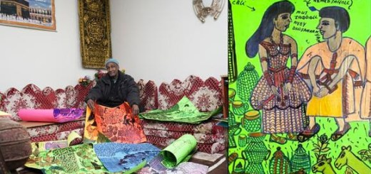 The Third Place presents Hassan Nor's first indoor gallery exhibition, curated by Pamela Gaard, with intergenerational performances featuring Nor as story teller and poems by Aisha Mohamed (his granddaughter) and Kaaha Nasteexo.