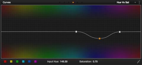 I just dropped the blue/indigo saturation.