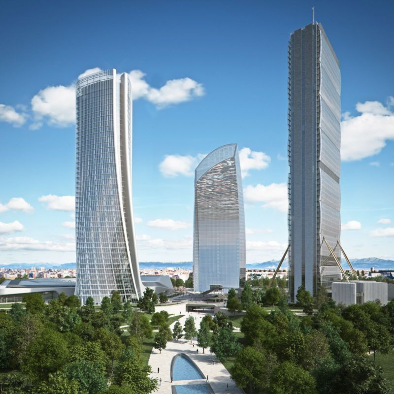 city life milano office tower under construction by zaha hadid architects. Black Bedroom Furniture Sets. Home Design Ideas