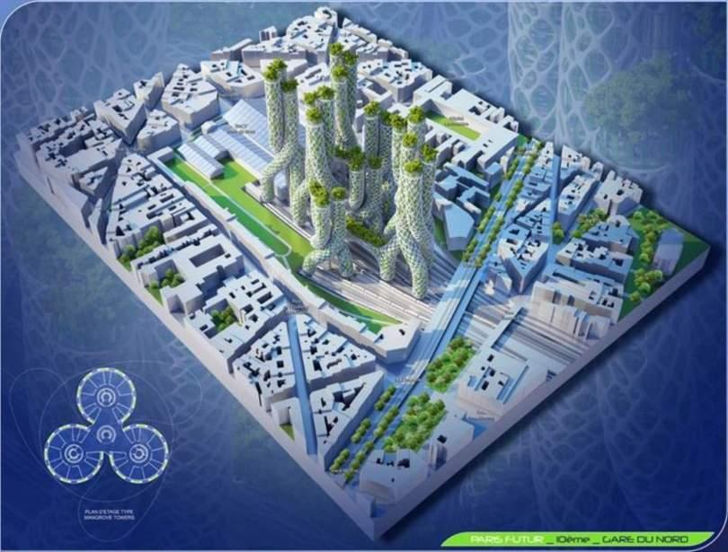 paris smart city 2050 by vincent callebaut 16. Black Bedroom Furniture Sets. Home Design Ideas