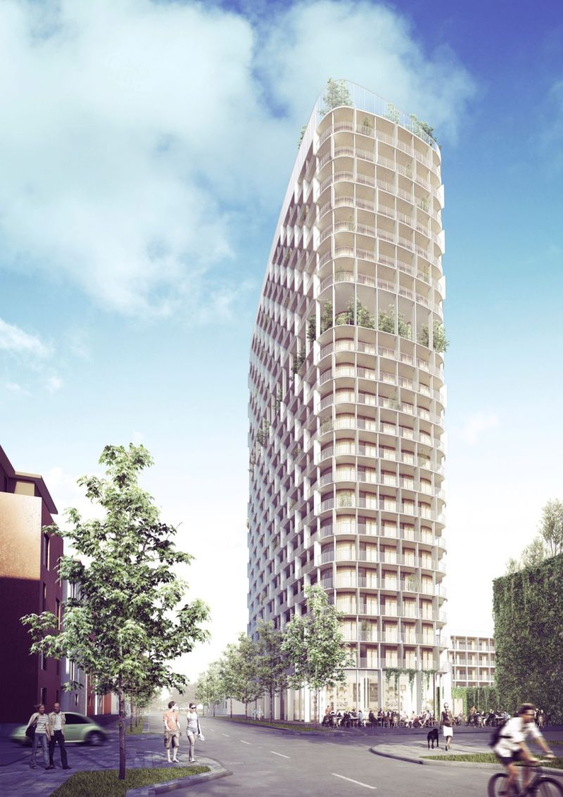The winning C.F. Møller project is a high-rise building ...