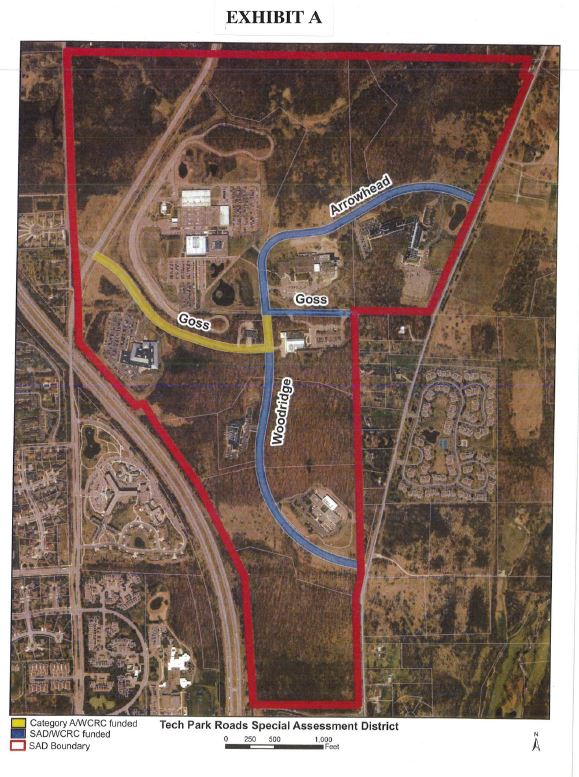 Public hearing on Tech Park Roads Improvement Special Assessment Jan. 16 at 7:30 pm