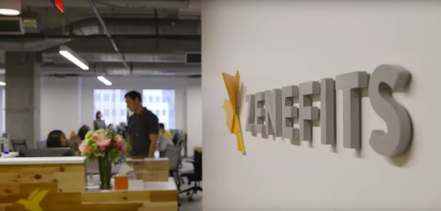 zenefits office with sign