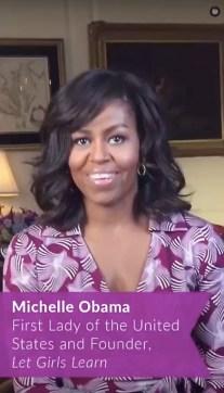 Snapchat Speaker Michelle Obama