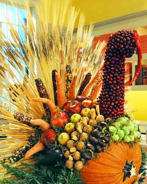 Turkey Fall centerpiece