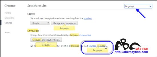 Chuyển Google Chrome từ tiếng Anh sang tiếng Việt
