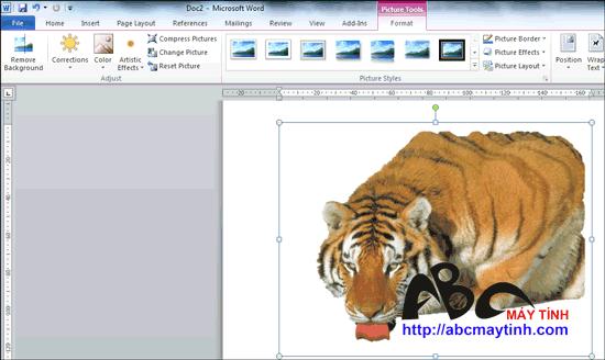 Thủ thuật xử lý hình ảnh ở Microsoft Office 2010