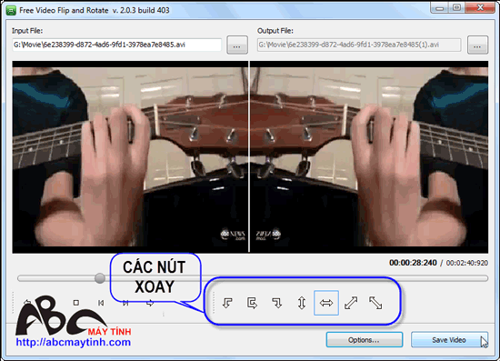 Free Video Flip and Rotate – Xoay video thật dễ dàng
