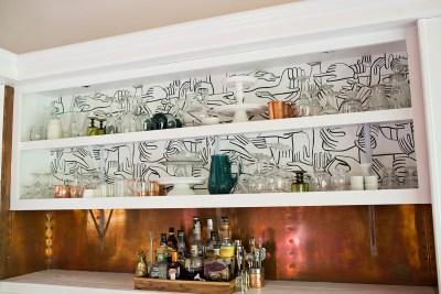 Progress Report: Dining Room Wallpaper - A Beautiful Mess