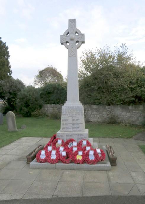 Armistice Day photo of Abergele's War Memorial taken in November 2014 by Sion Jones