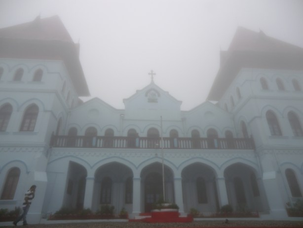 St. Jospeh's College Front engulfed by mist