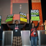 """20th International AIDS Conference (AIDS 2014), run by the International AIDS Society at the Exhibition Centre, Melbourne, Australia.  Photo shows AIDS  activists at Opening Session.  Photo: International AIDS Society/Steve Forrest"""