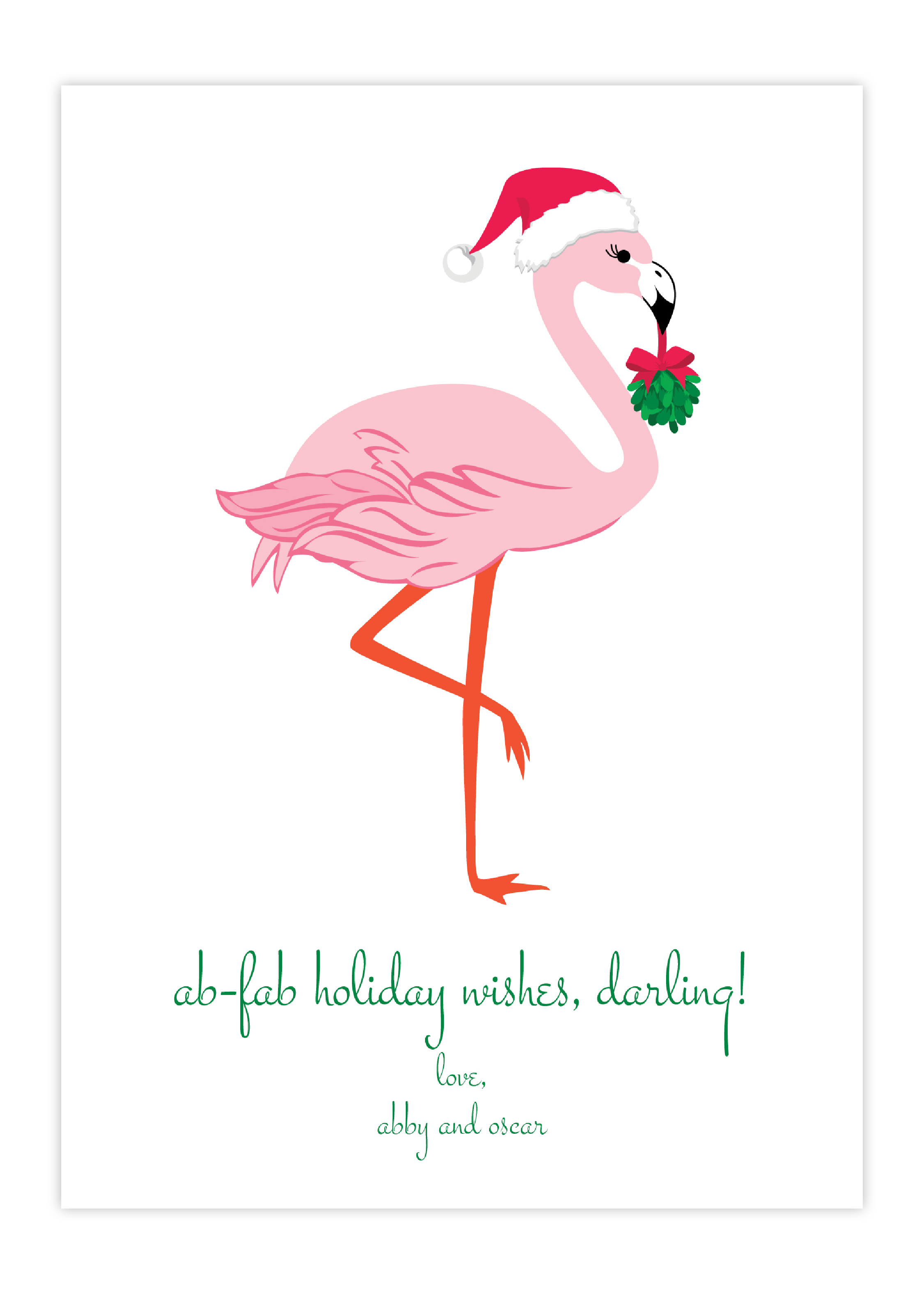 Thrifty Ab Fab Flamingo Greeting Card Holiday Collection Greeting Cards By Flair Designery Holiday Greeting Cards Wholesale Holiday Greeting Cards Lumber cards Holiday Greeting Cards