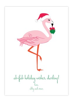 Thrifty Ab Fab Flamingo Greeting Card Holiday Collection Greeting Cards By Flair Designery Holiday Greeting Cards Wholesale Holiday Greeting Cards Lumber