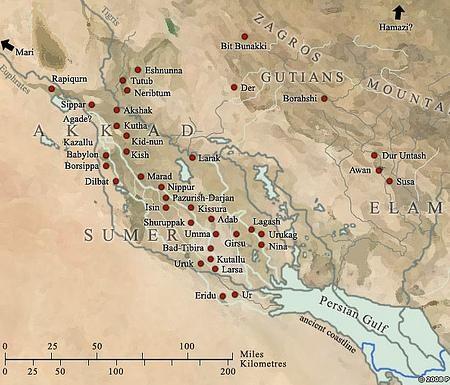 نقشۀ شهرهای بین النهرین