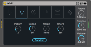 Ableton Live 9.5 Max for Live device Multi