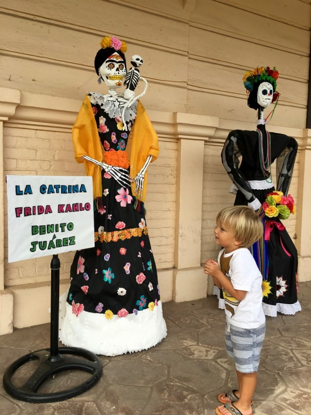 It was just after Dia de Muertos and art was on display made by the local schoolkids